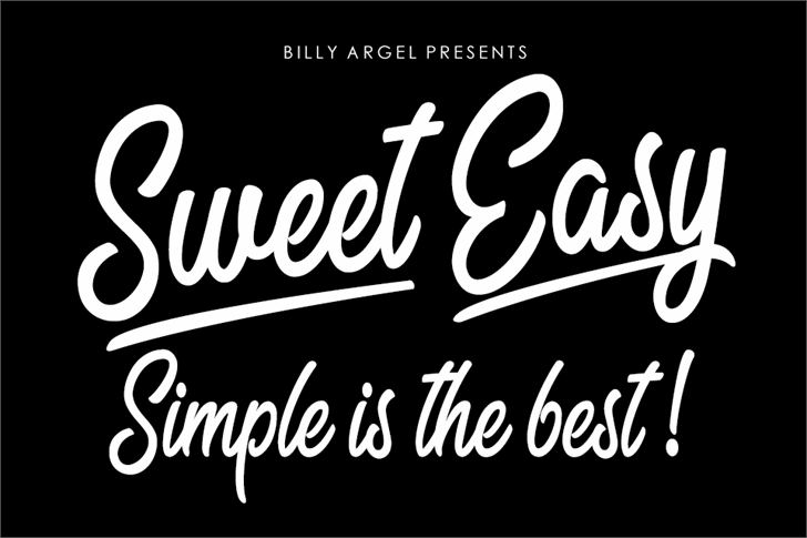 Sweet Easy Personal Use Font text