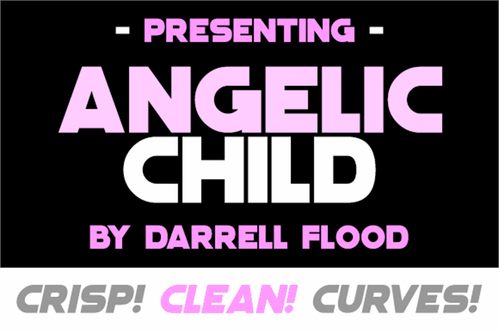 Angelic Child Font screenshot poster