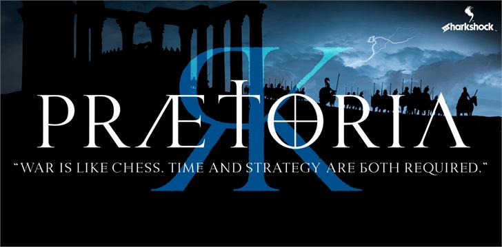 Praetoria Font design screenshot
