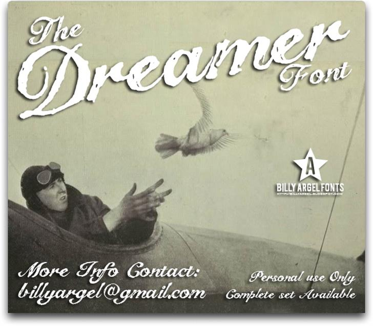 The Dreamer Font text poster