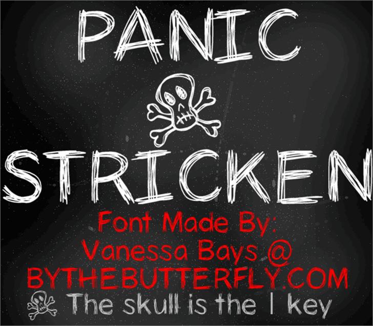 PanicStricken Font handwriting design