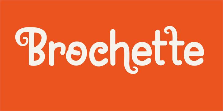 Brochette DEMO Font design graphic