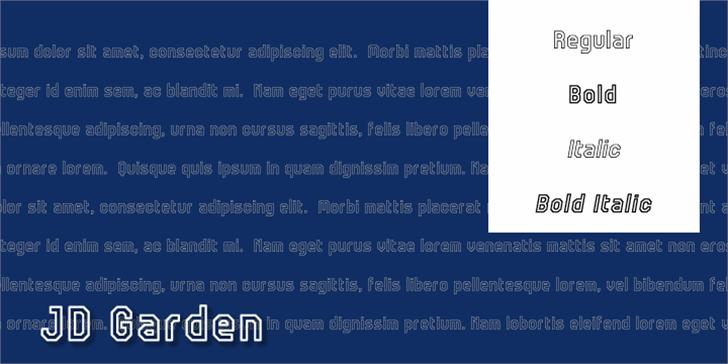 JD Garden Font screenshot abstract