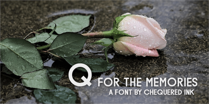 Q for the Memories Font food