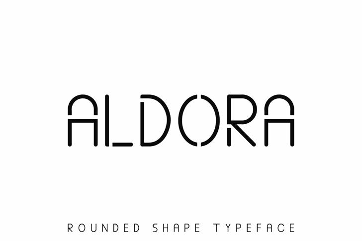 ALDORA Font design font
