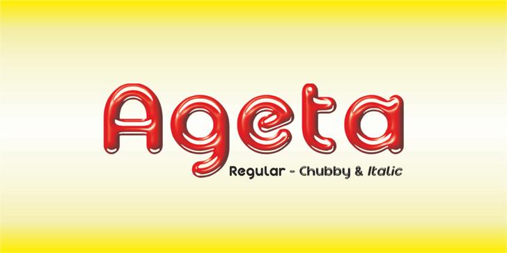 Ageta Chubby Demo Font design graphic