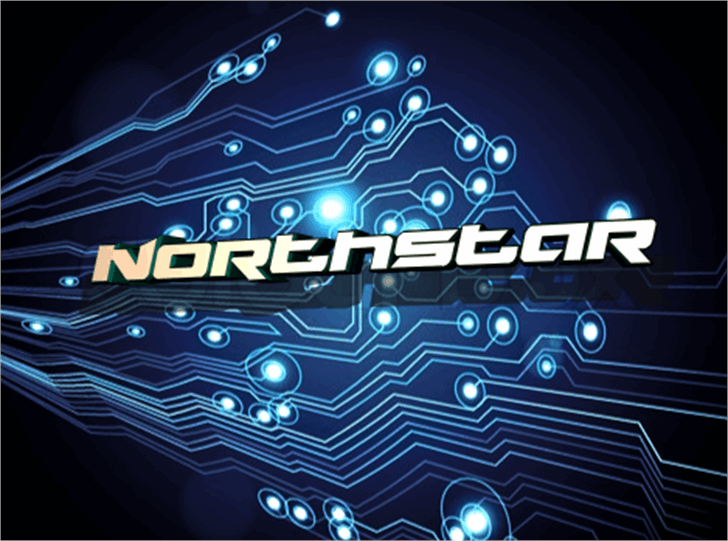 Northstar Font screenshot design