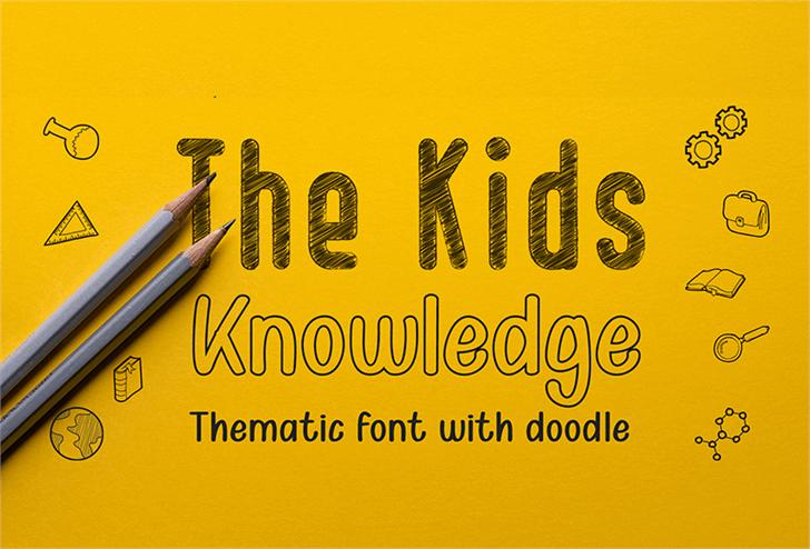 Kid Knowledges 1 Font text