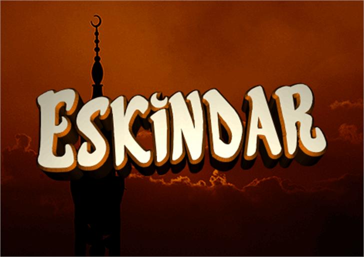 Eskindar Font sign lit