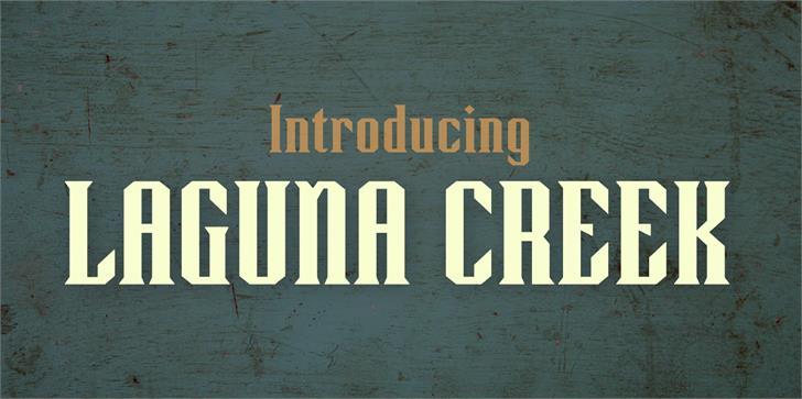 Laguna Creek Demo Font text