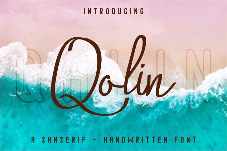 Qalin Font text