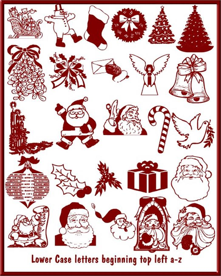 Christmas - Debbie Font cartoon illustration