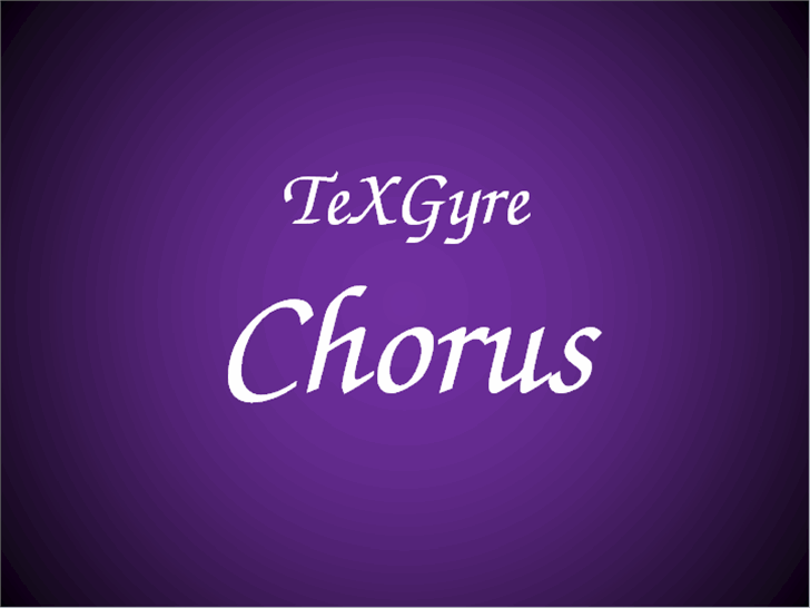 TeXGyreChorus font by GUST e-foundry