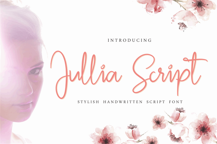 Jullia Script Personal Use Only Font design graphic