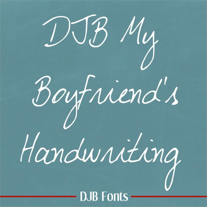 DJB My Boyfriend's Handwriting Font blackboard handwriting