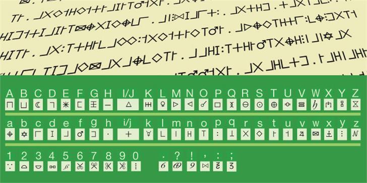 Illuminati Dirigens Berlin Font screenshot handwriting