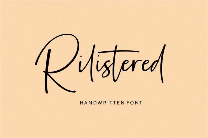Rilistered Font handwriting