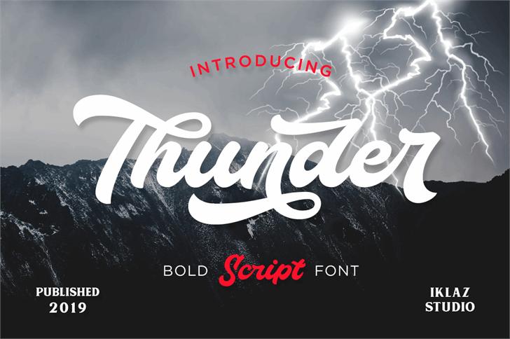 Thunder Demo font by Iklaz Studio