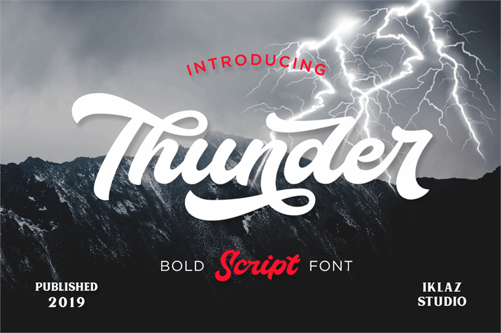 Thunder Demo Font design text