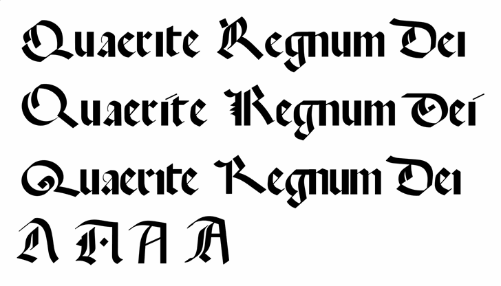 Quaerite Regnum Dei Font poster
