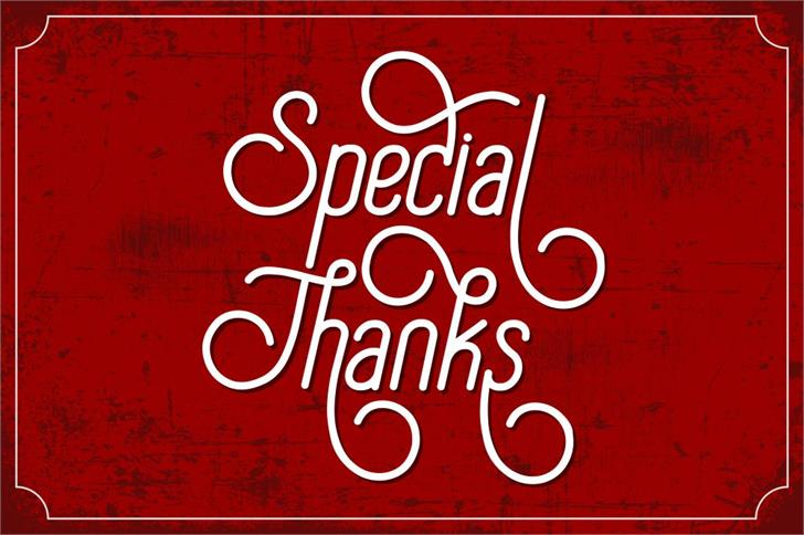 Special Thanks Font poster