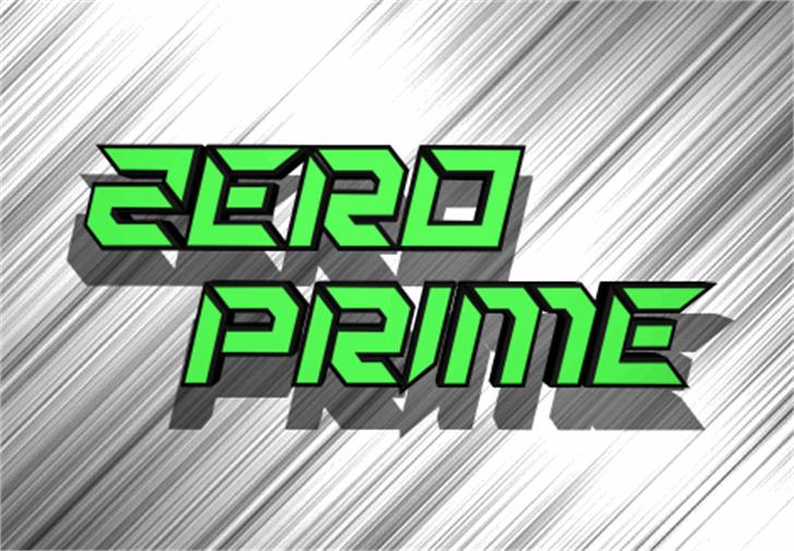 Zero Prime Font poster