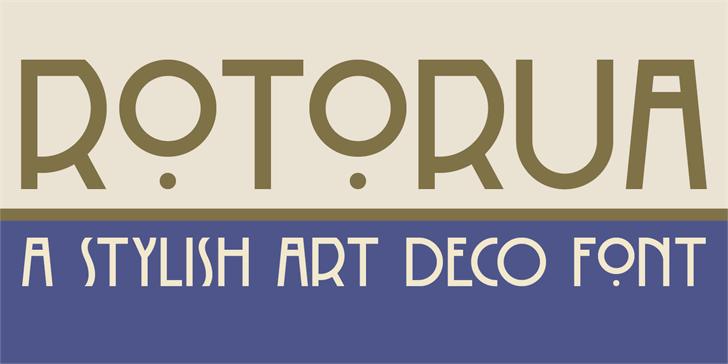 DK Rotorua Font design screenshot