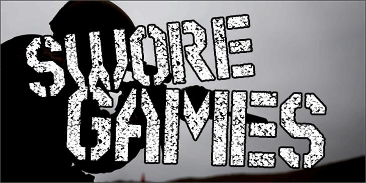 Swore Games Font cartoon drawing