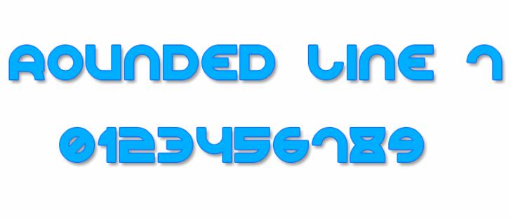 Rounded Line 7 Font design screenshot