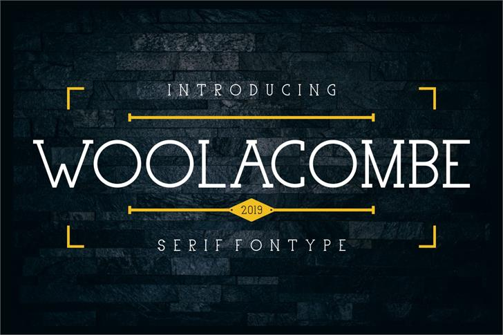 Woolacombe Font screenshot poster