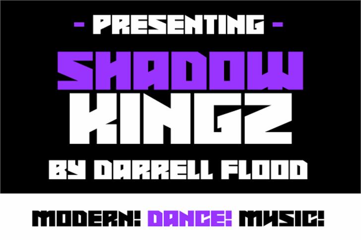 Shadowkingz Font screenshot design