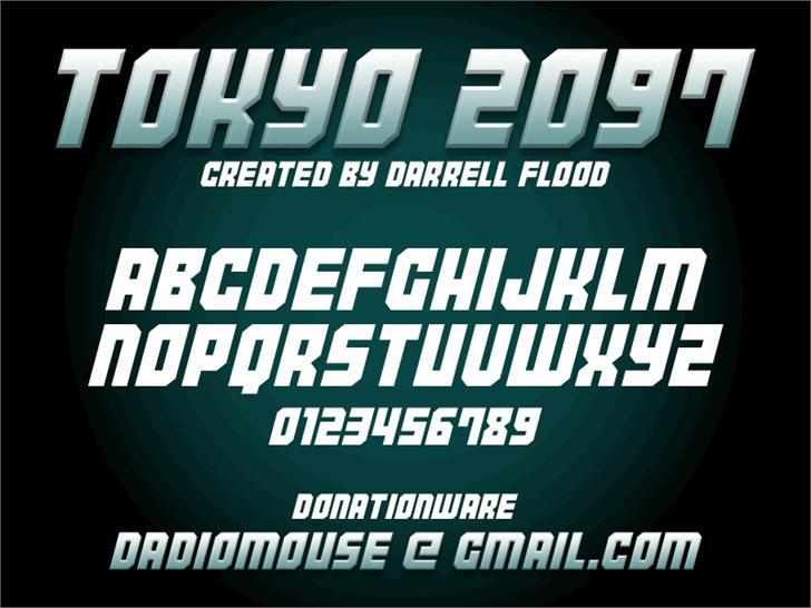 Tokyo 2097 Font screenshot poster