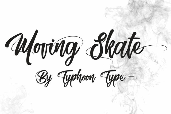 Moving Skate font by Typhoon Type - Suthi Srisopha