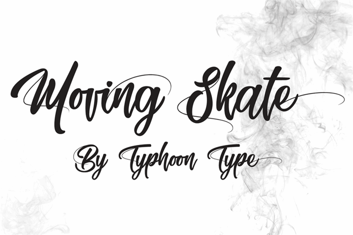 Moving Skate Font handwriting design