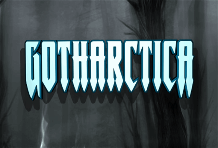 Gotharctica Font screenshot graphic