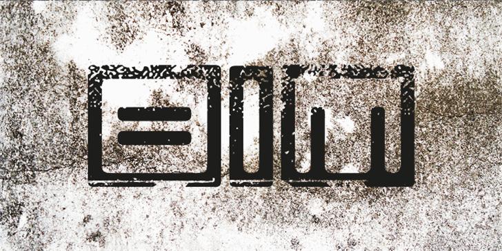 Bim eroded Font handwriting font