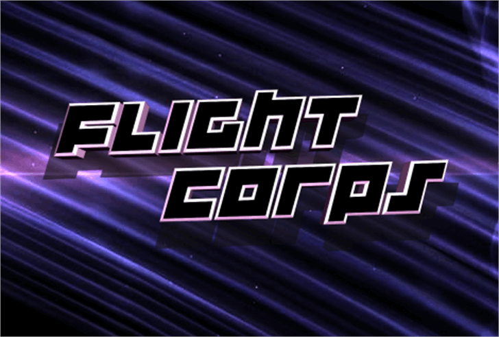 Flight Corps Font screenshot design