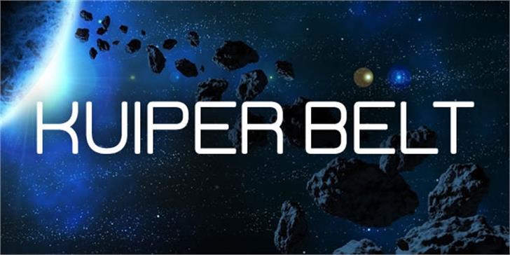 Kuiper Belt Font screenshot poster