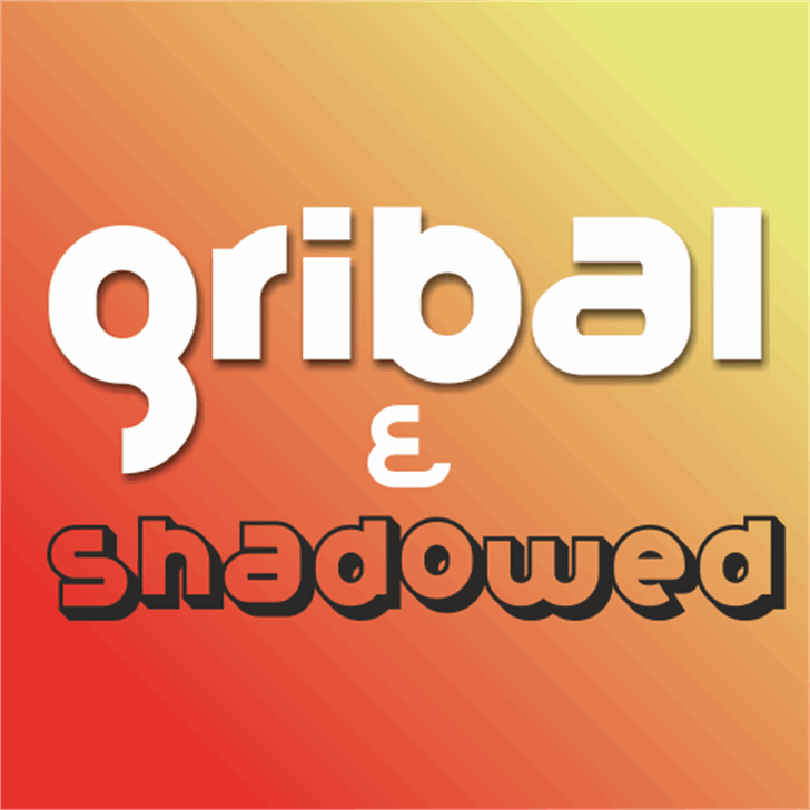 Gribal Demo Font screenshot design