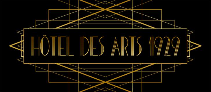 HOTEL DES ARTS 1929 Font design text