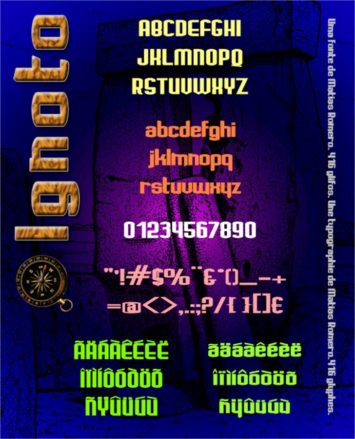 Ignoto Font screenshot text