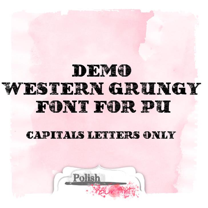 Western Grungy by Marta van Eck Font text graphic