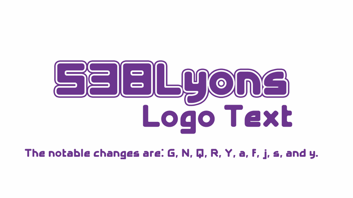 538Lyons Logo Text Font design graphic