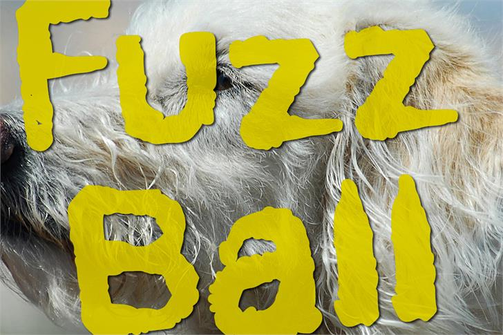 Fuzzball Font drawing