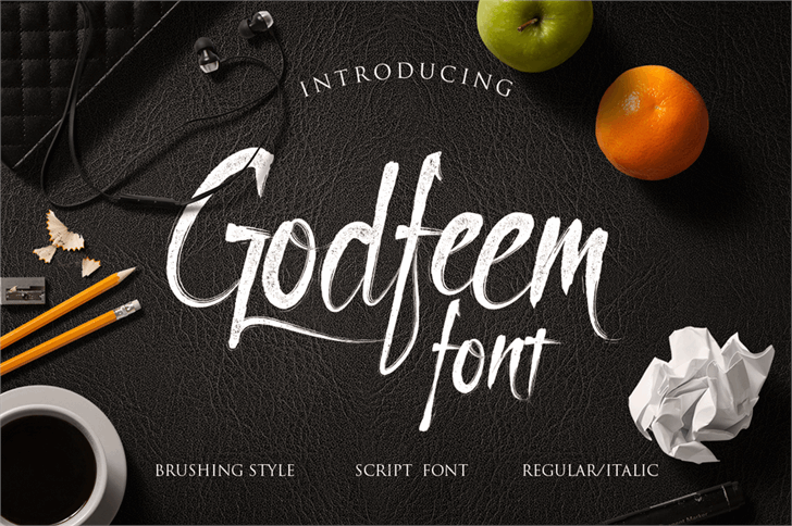 Godfeem Font indoor design