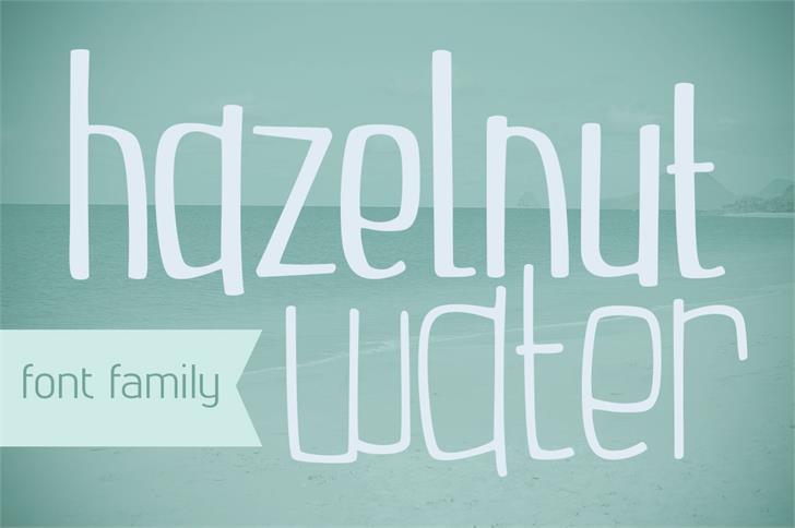 Hazelnut Water Font handwriting typography