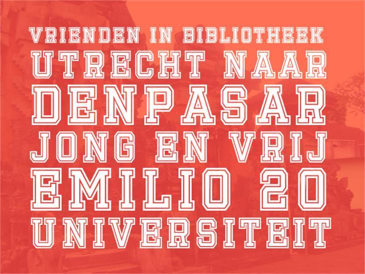 Emilio 20 Font design graphic