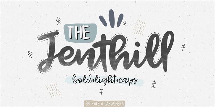 Jenthill Font handwriting typography