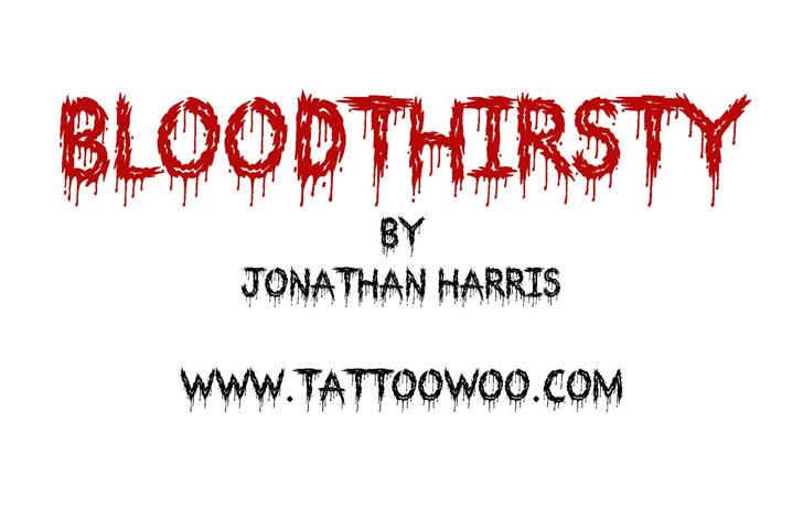 Bloodthirsty Font handwriting drawing