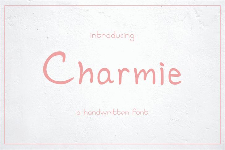 Charmie Font handwriting design
